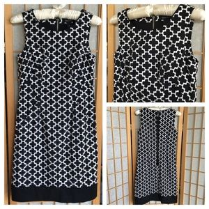 White House Black Market Fitted Print Dress SZ 00